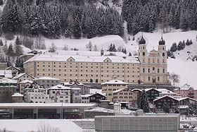 Disentis :Le Monastère en hiver