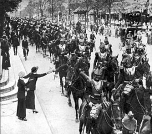 cavalerie Française Paris août 1914.